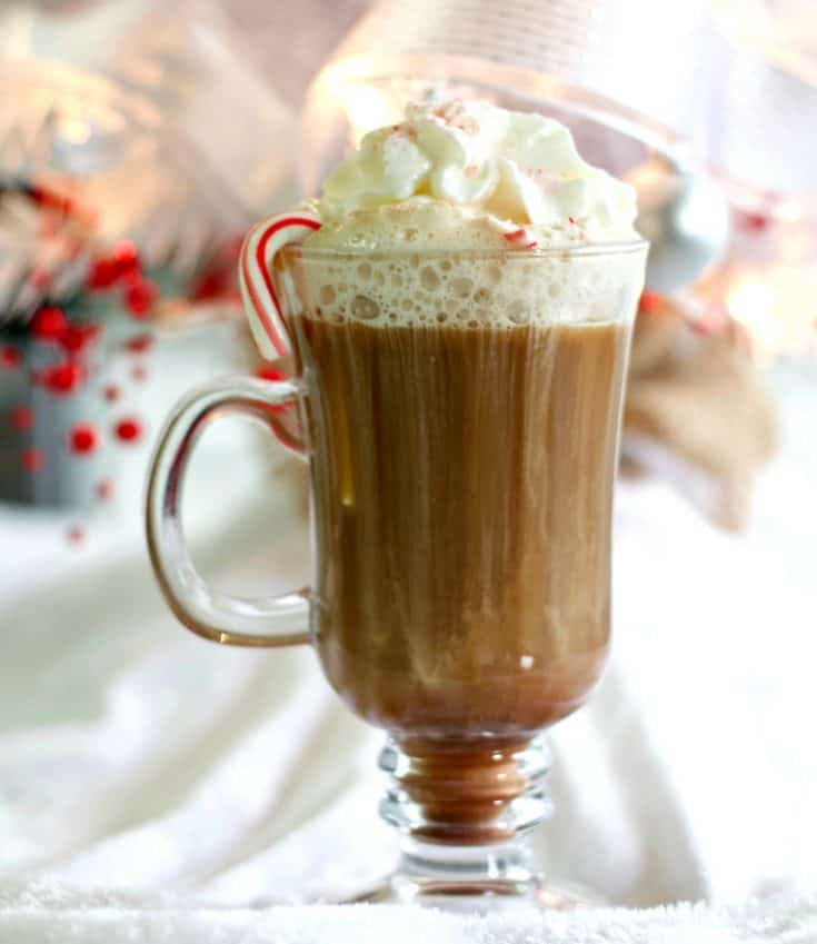 Hot Chocolate Peppermint Drink