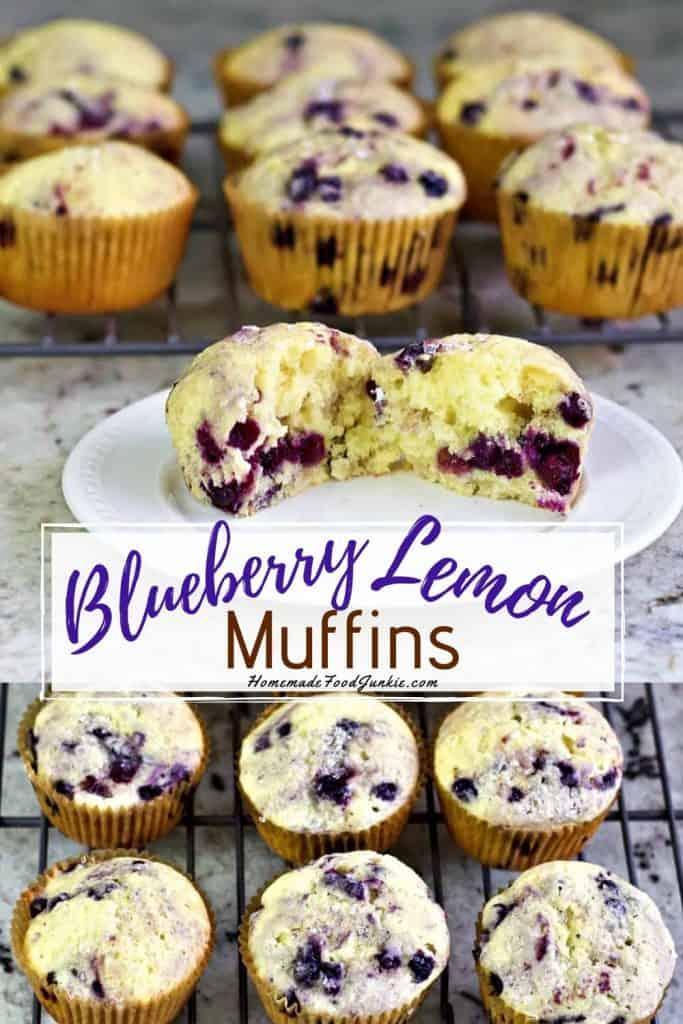Blueberry Lemon Muffins-Pin Image
