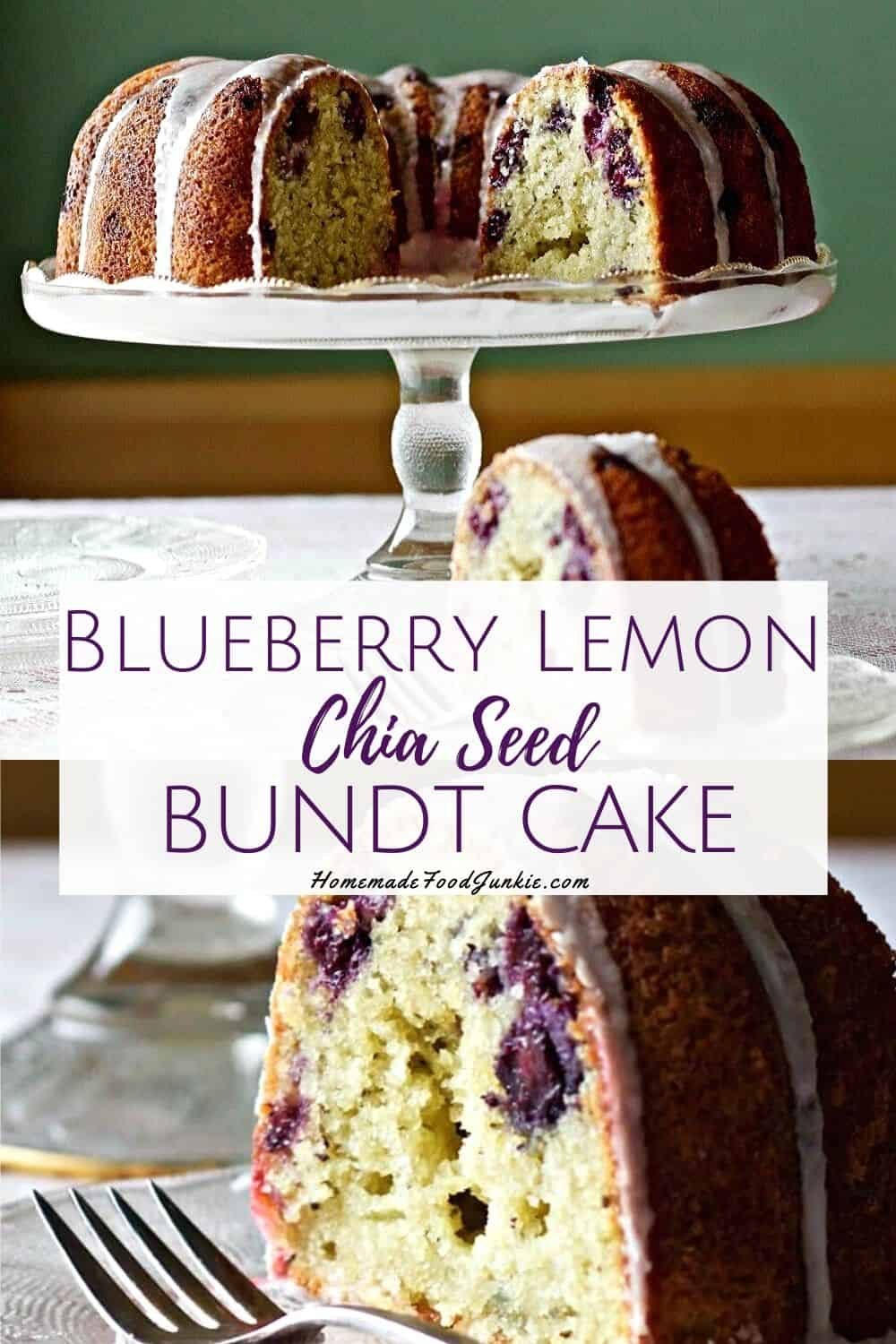 Blueberry lemon chia seed bundt cake-pin image