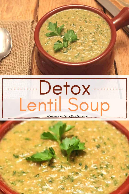 Detox Lentil Soup-pin image