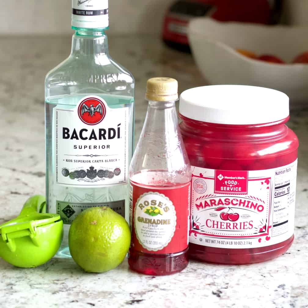 Ingredients for Bacardi Cocktail