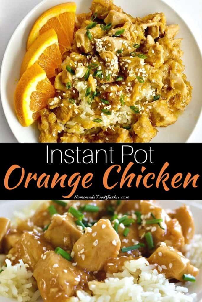 Instant Pot Orange Chicken-pin image