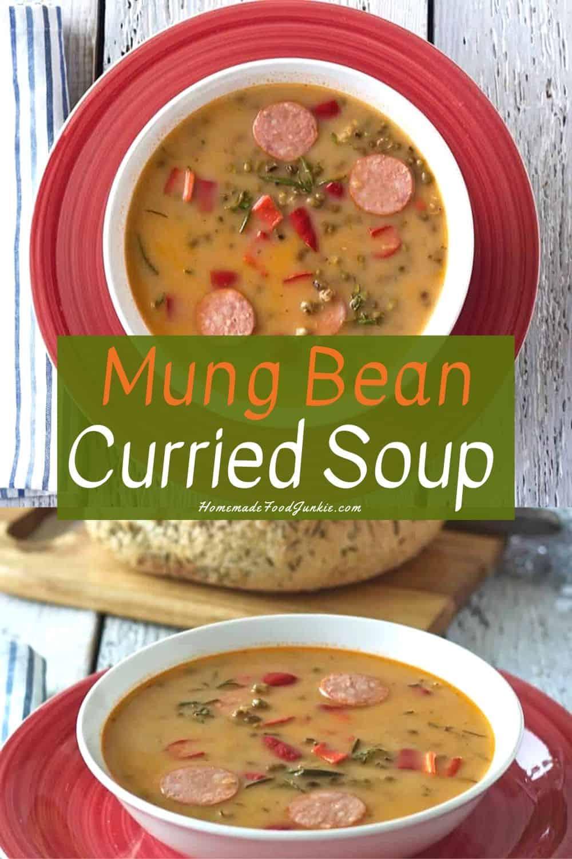Mung Bean Curry soup-pin image