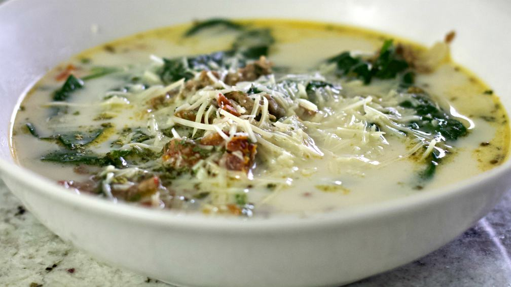 Tuscan Sausage keto soup recipe
