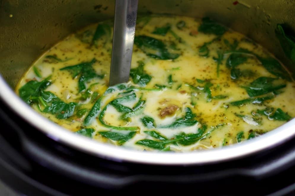 Tuscan Sausage Keto Soup