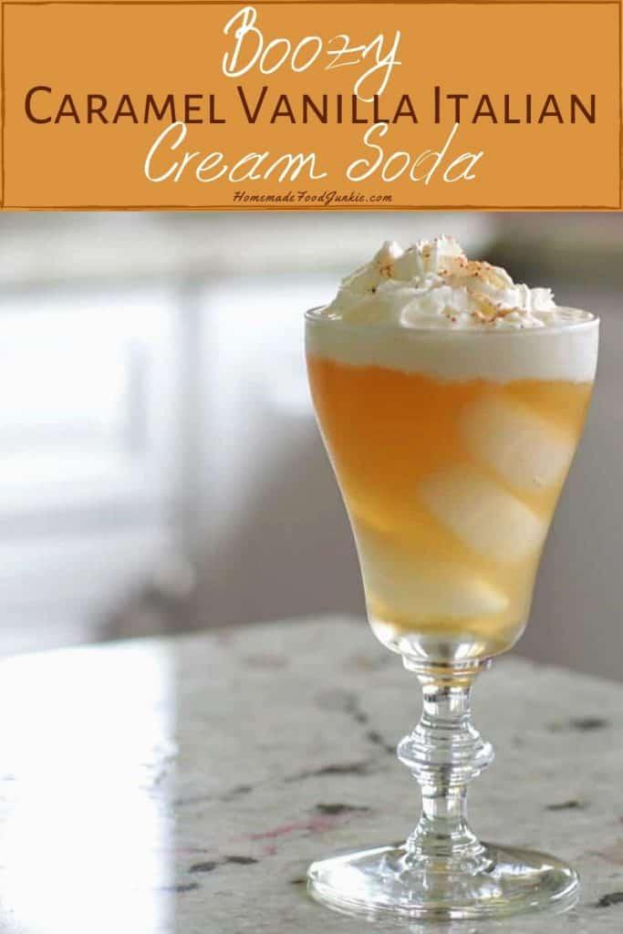 Caramel Vanilla Italian Cream Soda-pin image