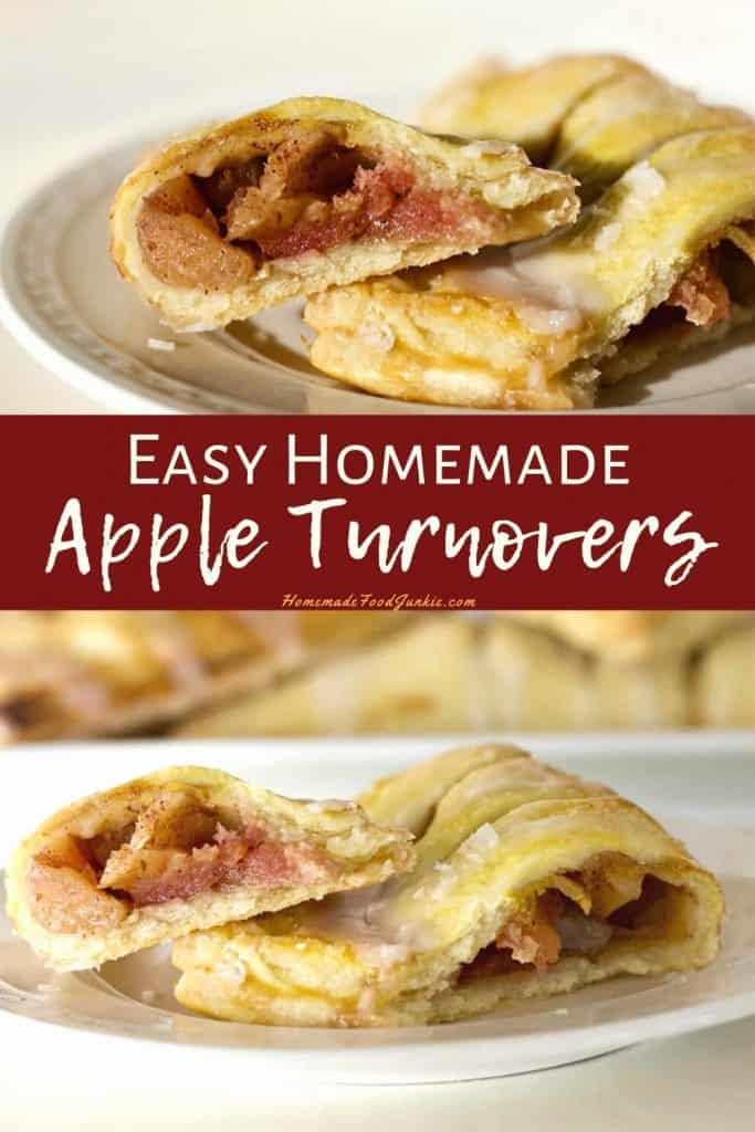 Easy homemade apple turnovers-pin image