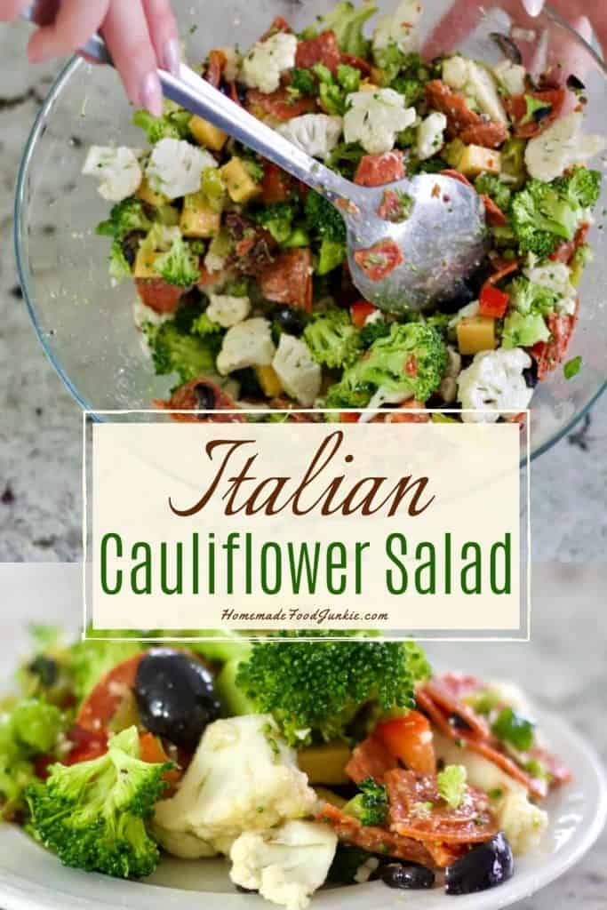 Italian cauliflower salad-pin image