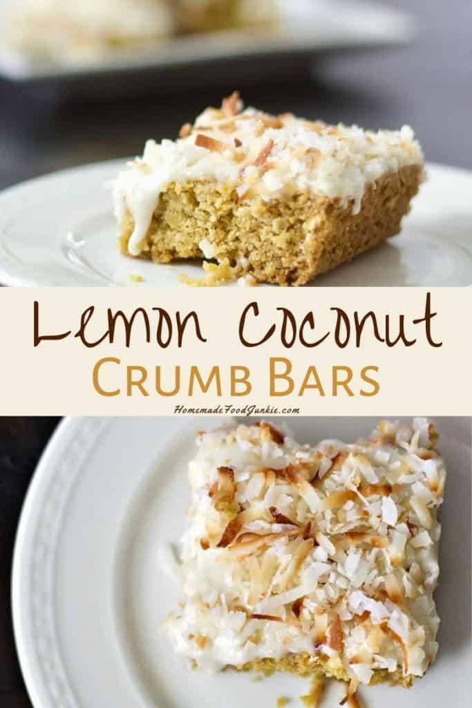 Lemon Coconut Crumb Bars-pin image