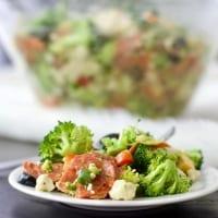cauliflower broccoli Italian chopped salad