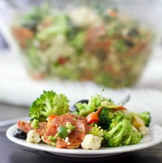 cauliflower broccoli Italian chopped salad