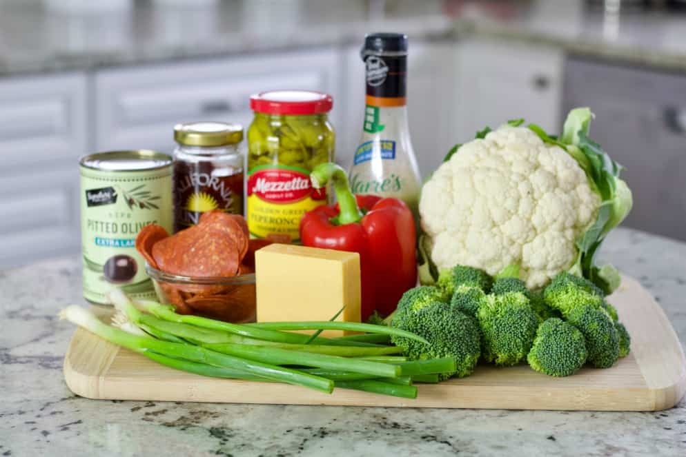 Ingredients for Italian chopped Salad