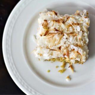 toasted coconut lemon bars