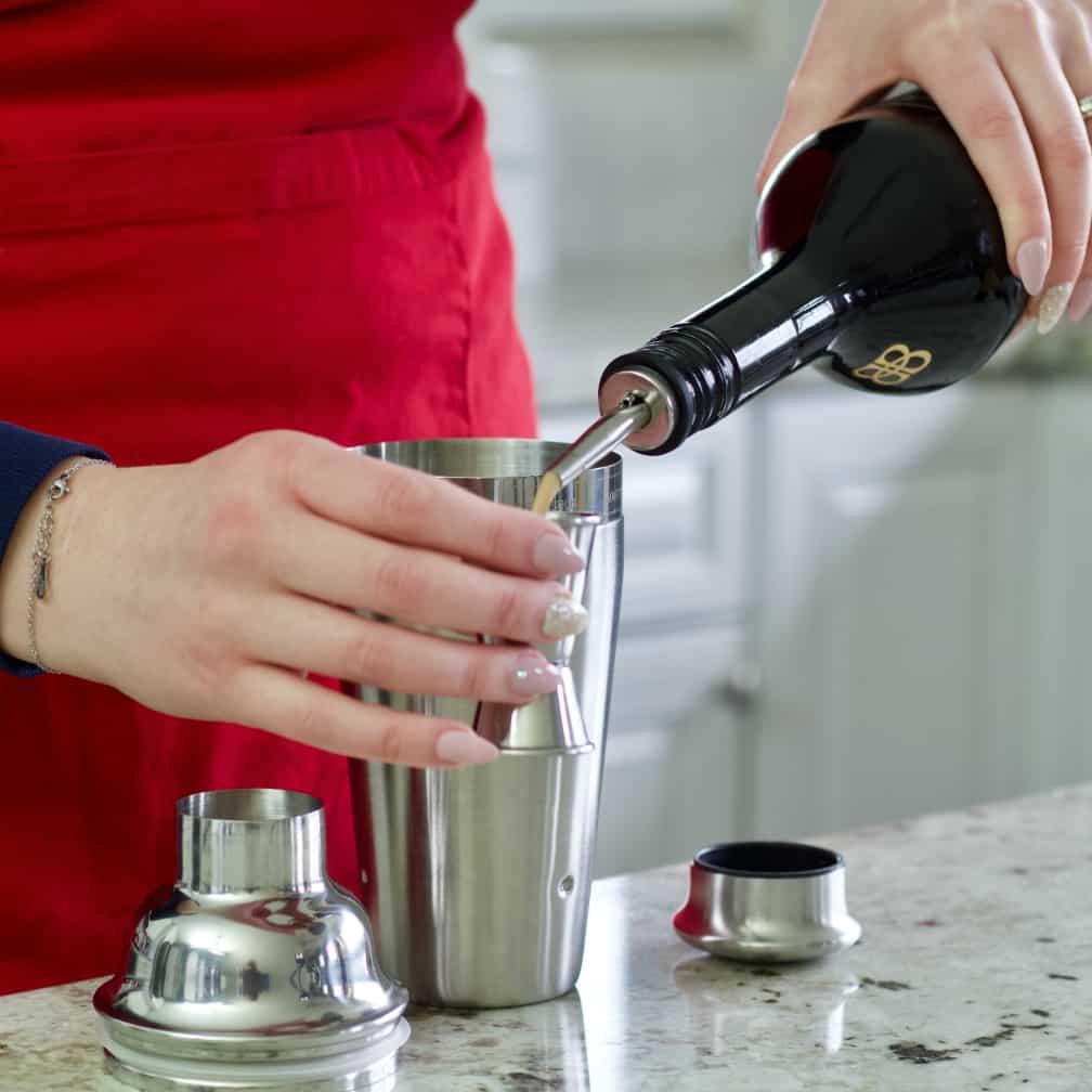 pour baileys-iced coffee
