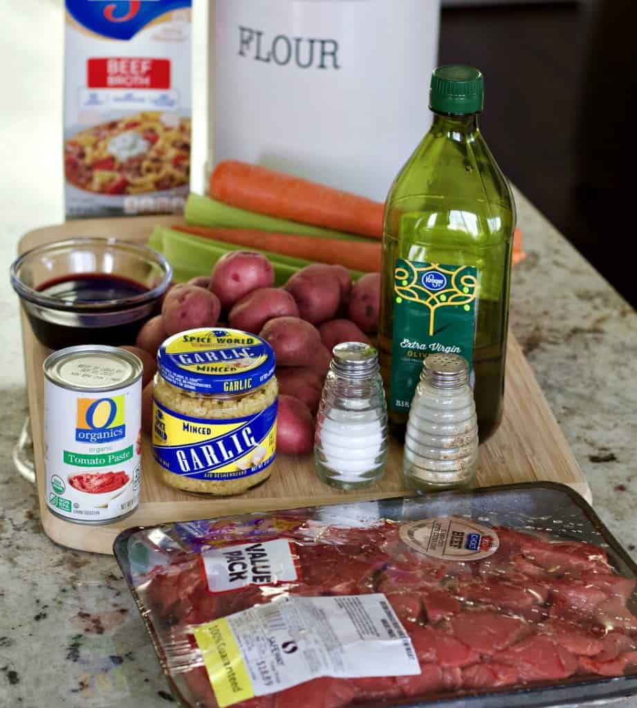Ingredients for Easy instant pot beef stew
