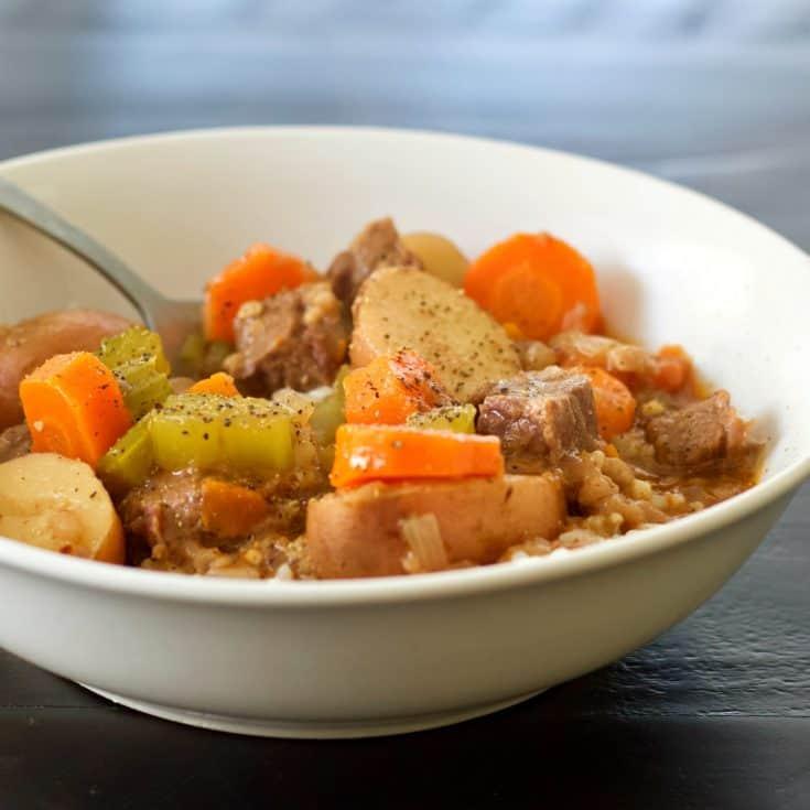 Instant Pot Beef Stew top