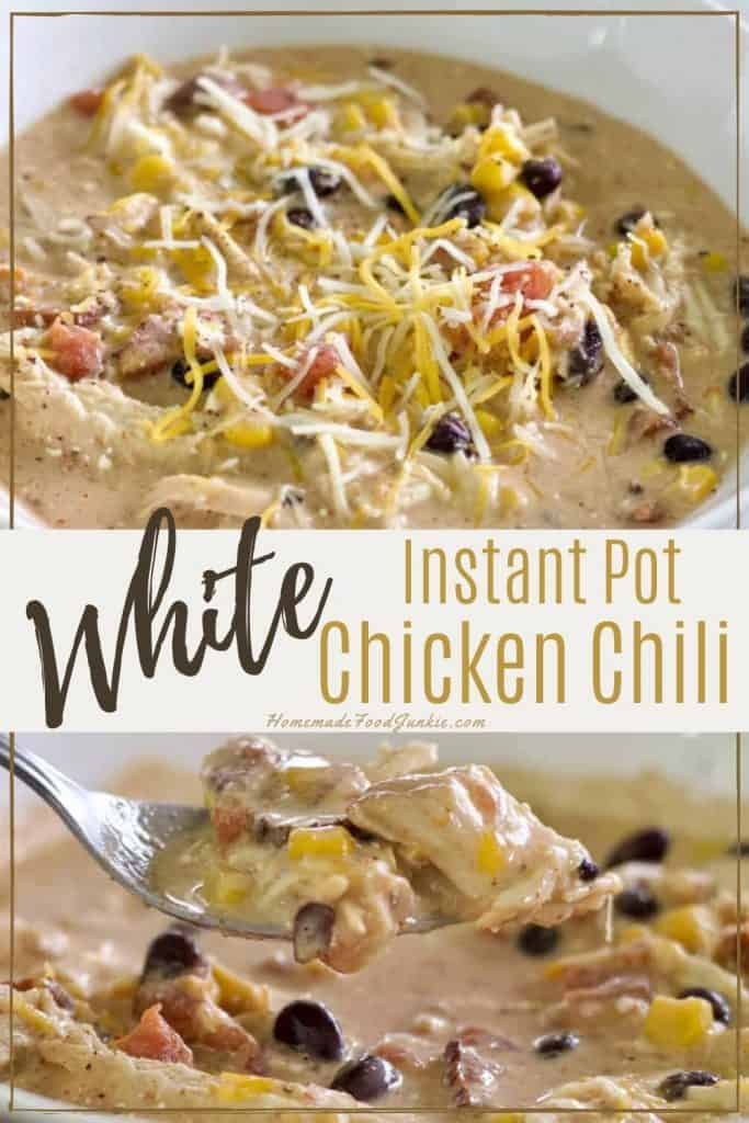 Instant pot white chicken chili-pin image