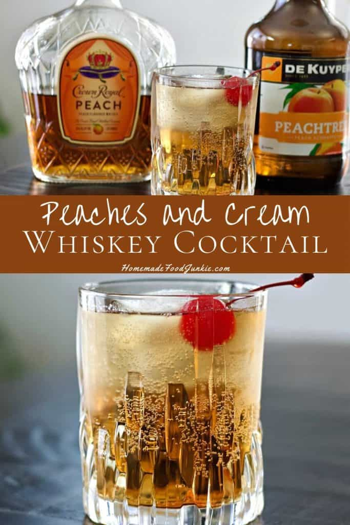 Crown royal peach and cream whiskey cocktail-pin image