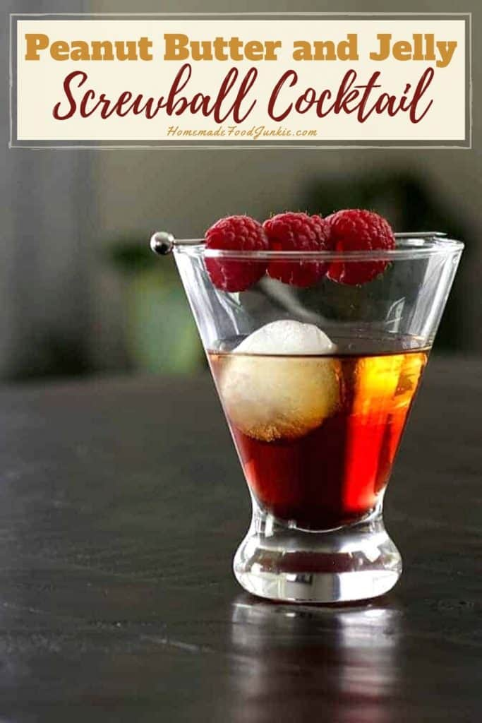 Peanut butter and jelly screwball cocktail-pin image