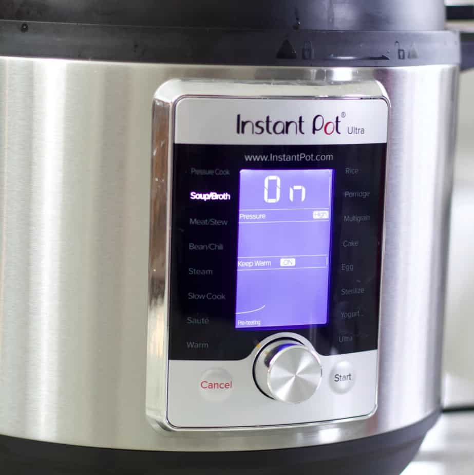 instant pot on soup function