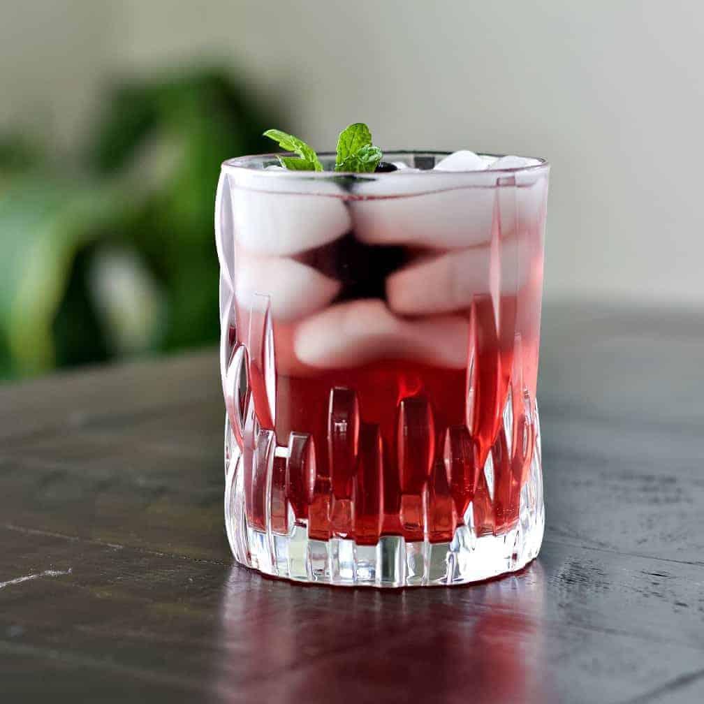 Chambord Drink garnished