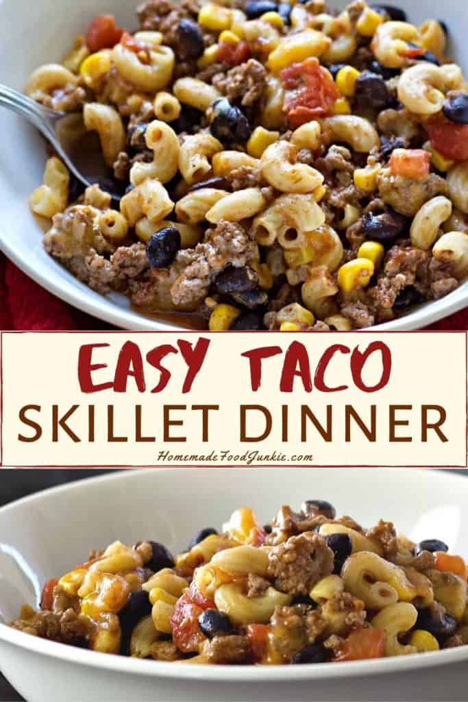 Easy taco skillet dinner-pin image