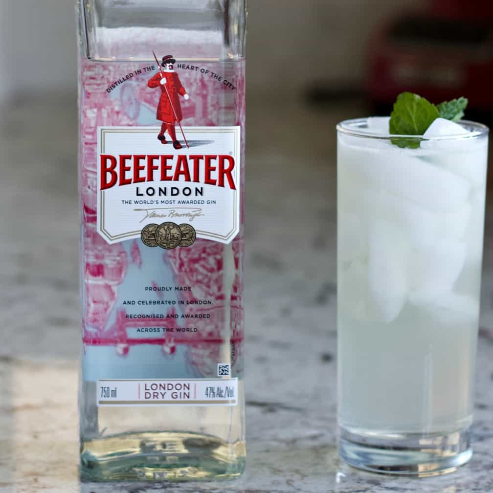 gin Fizz with beefeater