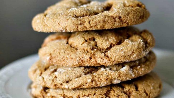 sourdough Ginger molasses cookies