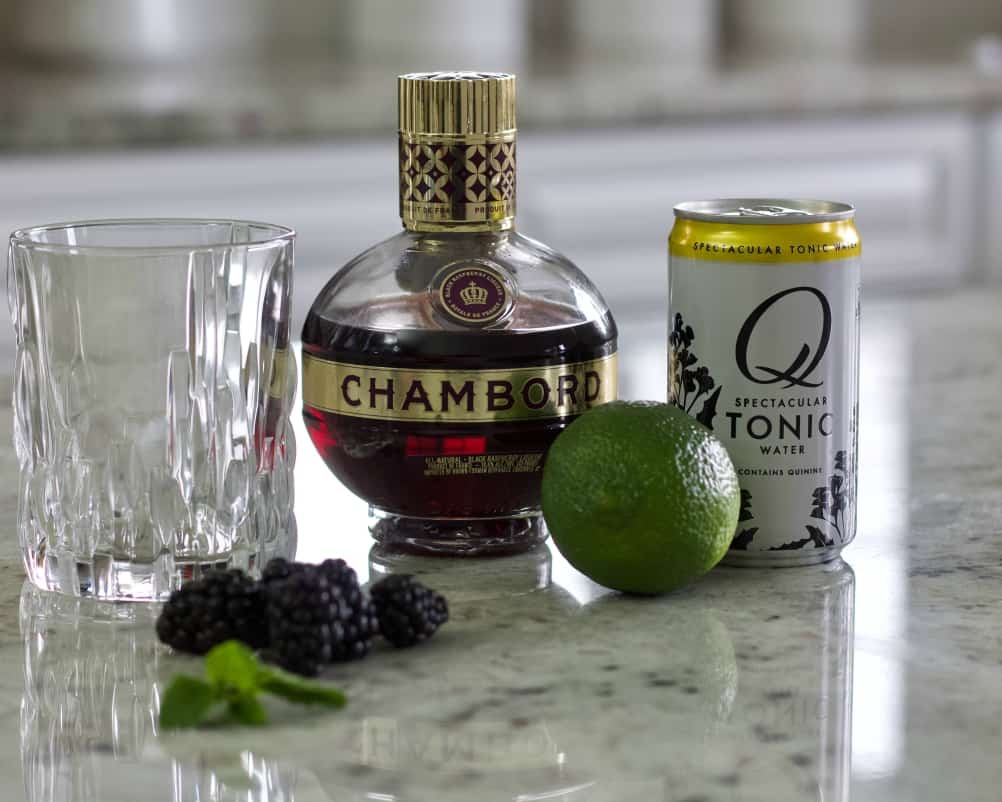 ingredients for Chambord Drink