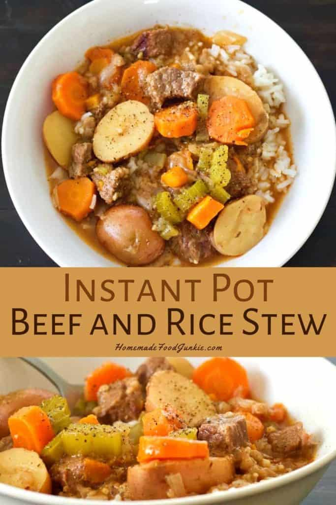 Instant Pot Beef and Rice Stew-pin image
