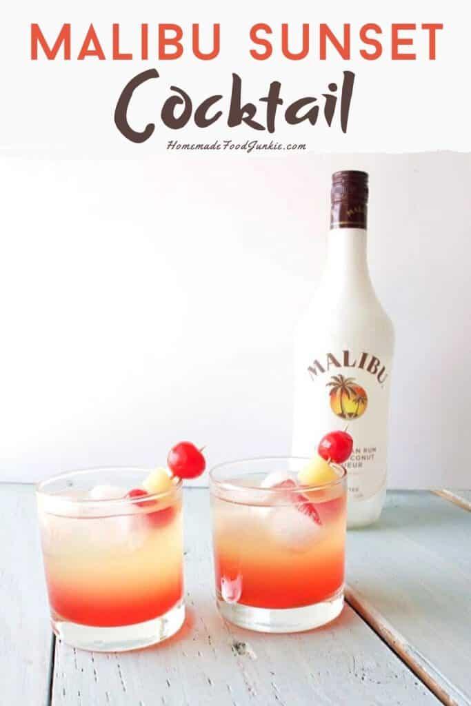 Malibu Sunset Cocktail pin image