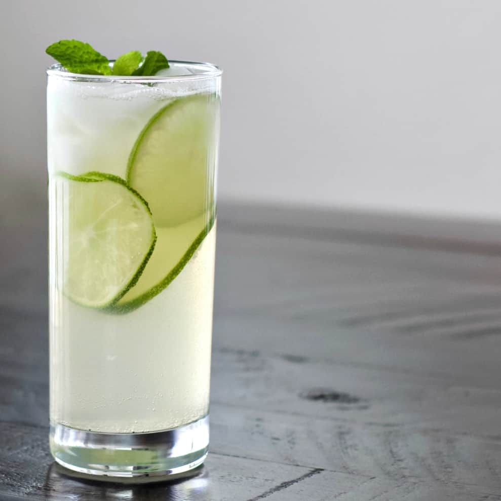 Mezcal cocktail with lime