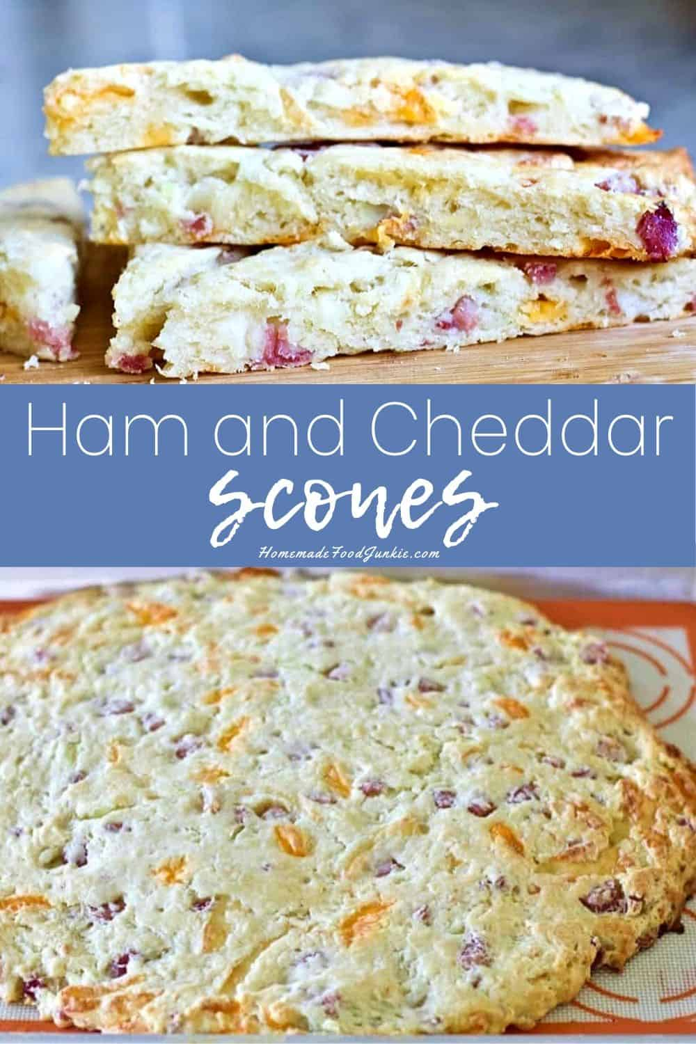 Ham and cheddar scones-pin image