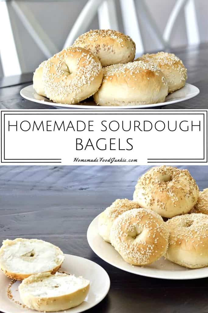 Homemade Sourdough Bagels-pin image