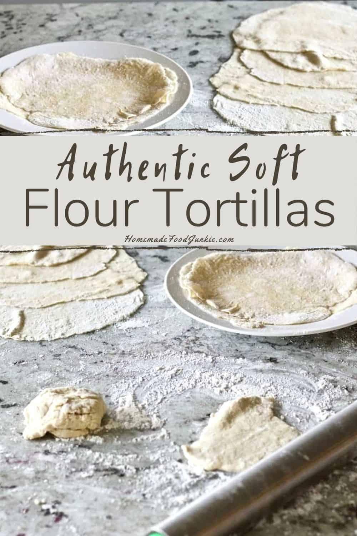 Authentic soft flour tortillas-pin image