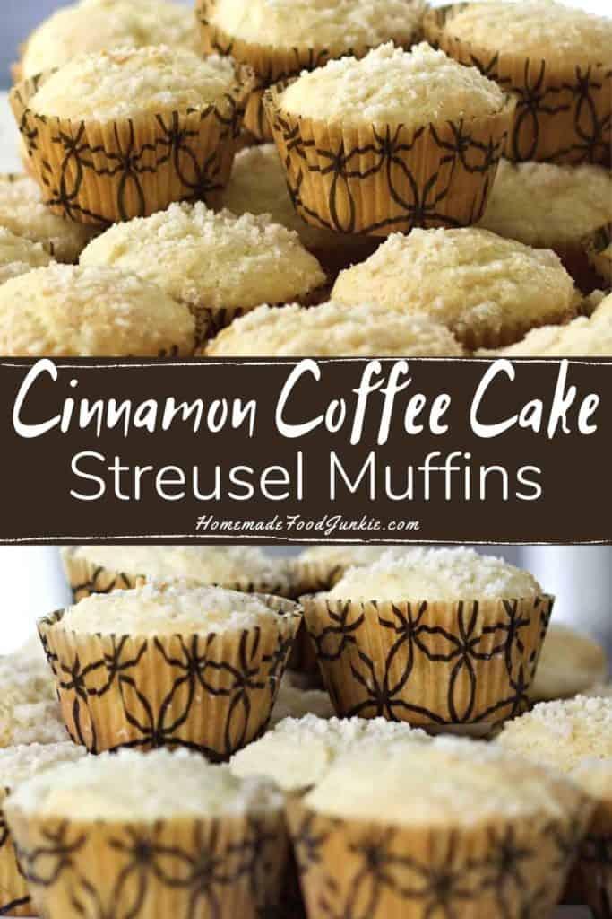 cinnamon coffee cake streusel muffins-pin image