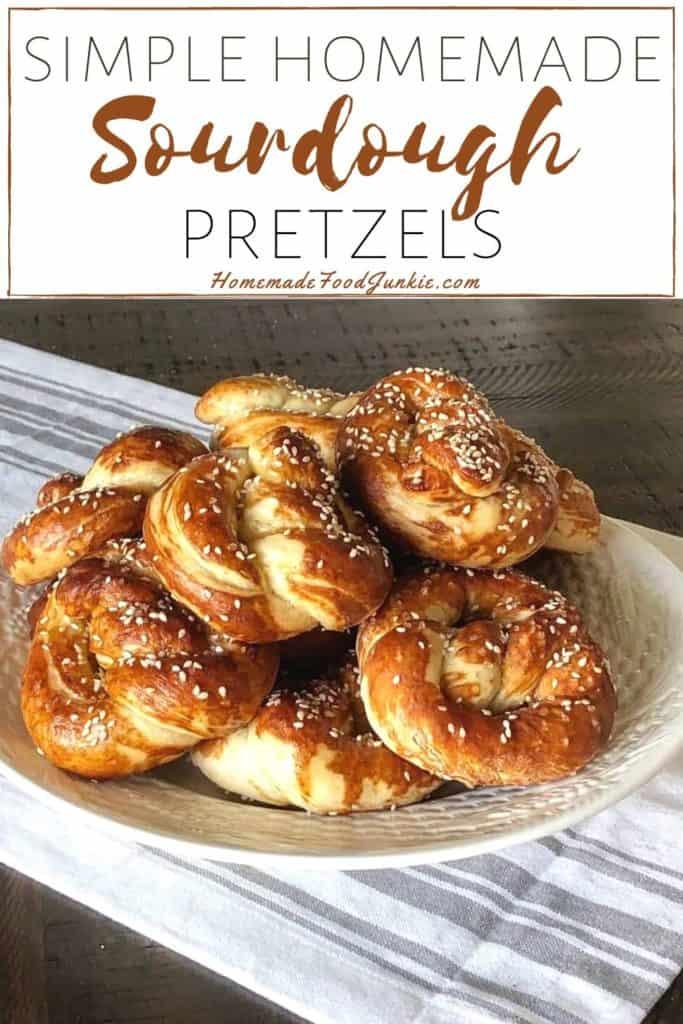 Simple Homemade Sourdough Pretzels-Pin Image