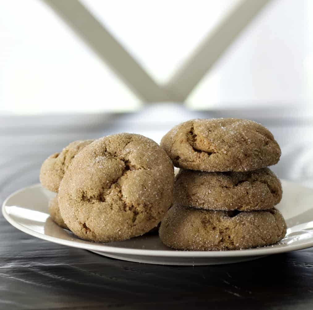 molasses cookies with sourdough