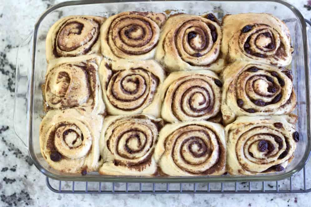 Freshly baked sourdough rolls