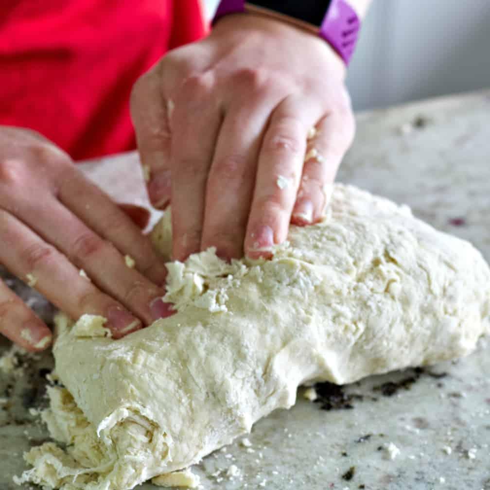 Kneading Pretzel Dough