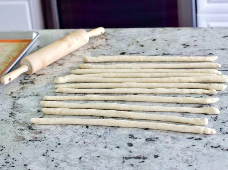 Pretzel Dough Ropes