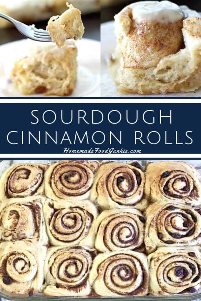 sourdough cinnamon rolls-pin image