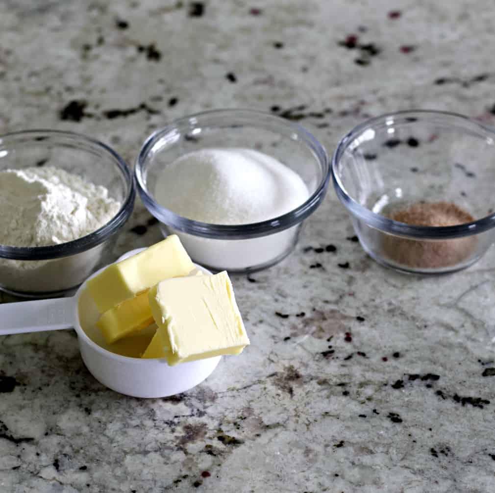 Streusel Ingredients-Coffee Cake Muffins