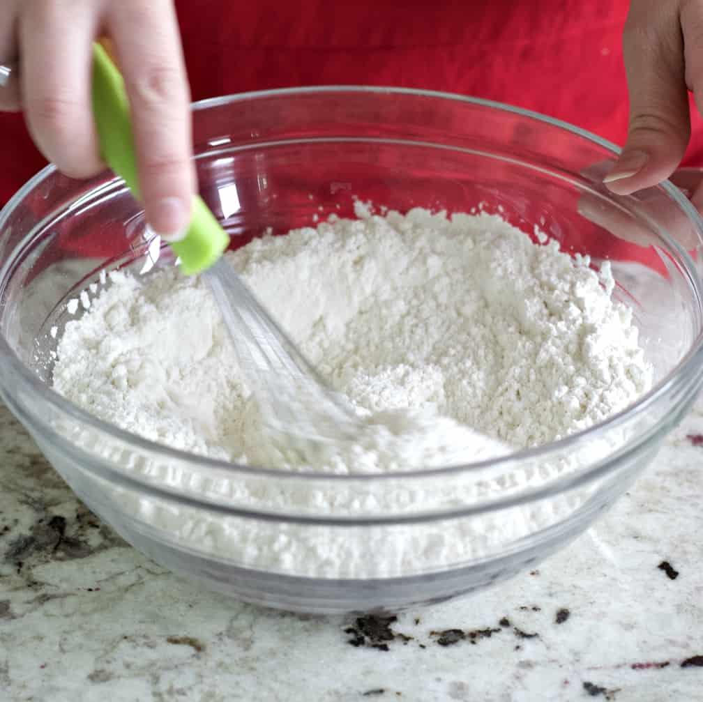 Whisking Dry Ingredients-Cinnamon Muffins