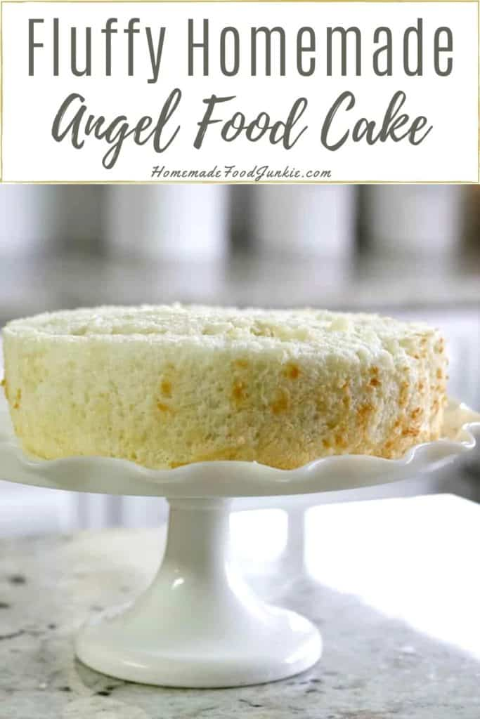 Fluffy Homemade Angel Food Cake-pin image