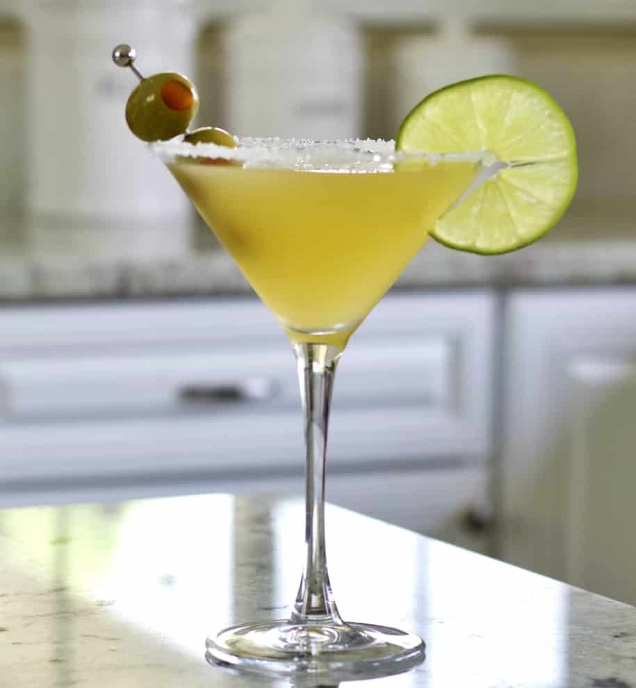 Garnished mexican martini
