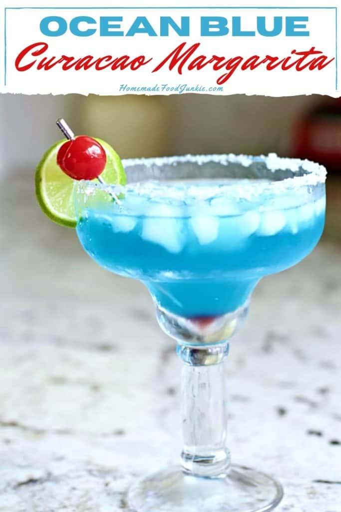 Ocean blue curacao margarita-pin image
