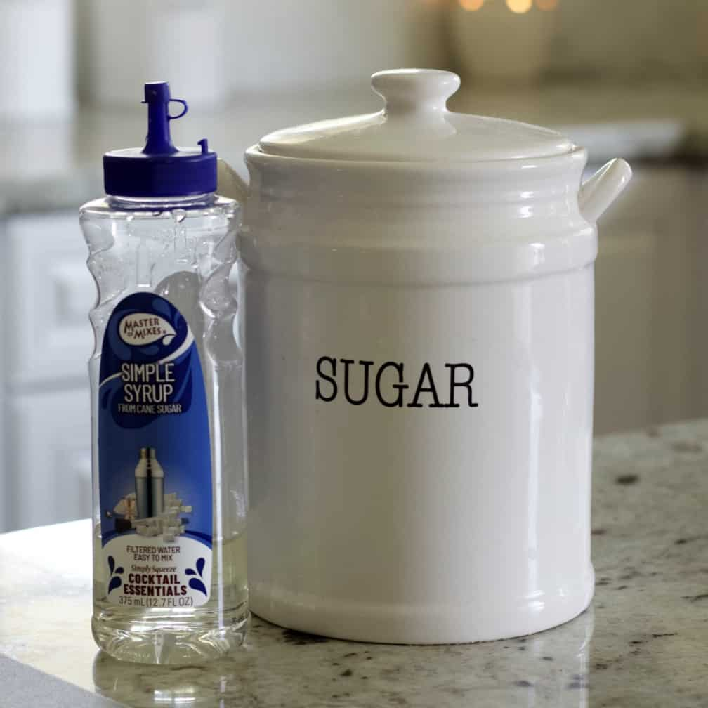 sugar and simple syrup
