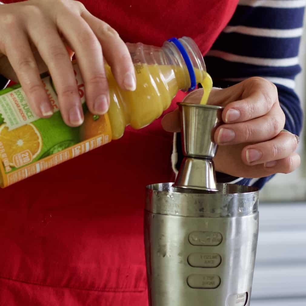 Add in orange juice