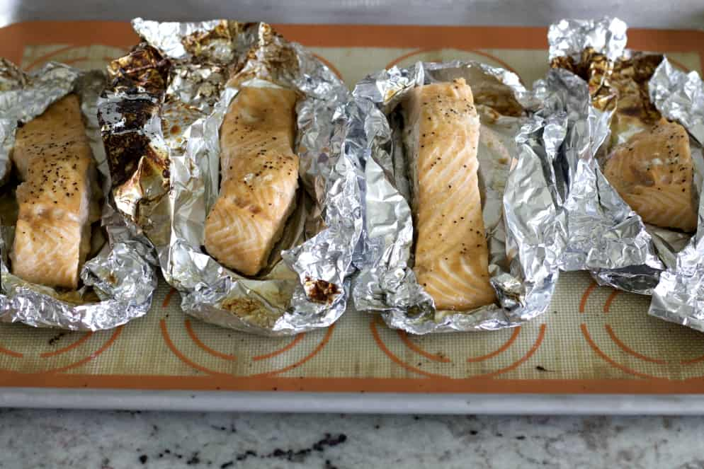 baked salmon on foil